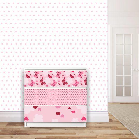 Möbelsticker für Malm-Kommode von IKEA - Patchwork