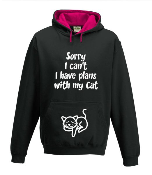 Kapuzenpullover Pullover Hoodie Katze Sorry I can't I have plans with my Cat