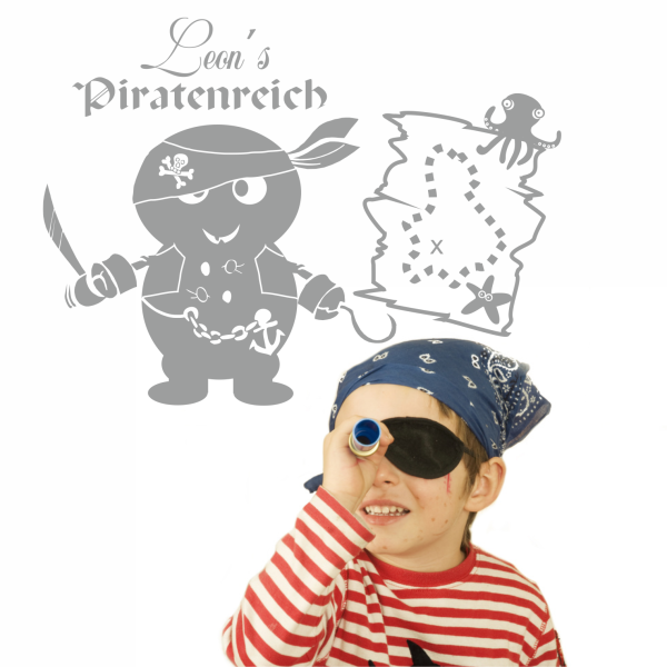 Wandtattoo Piratenreich