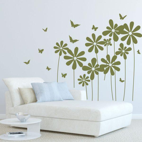 Wandtattoo Große Blumenwiese