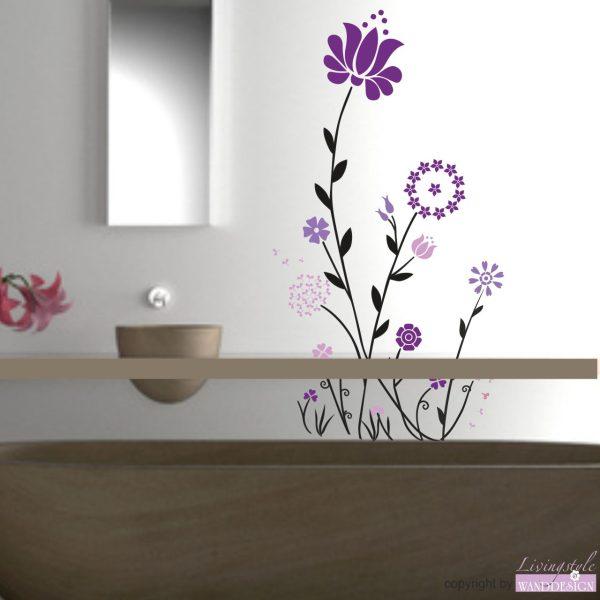 Wandtattoo Blumentraum-4-farbig