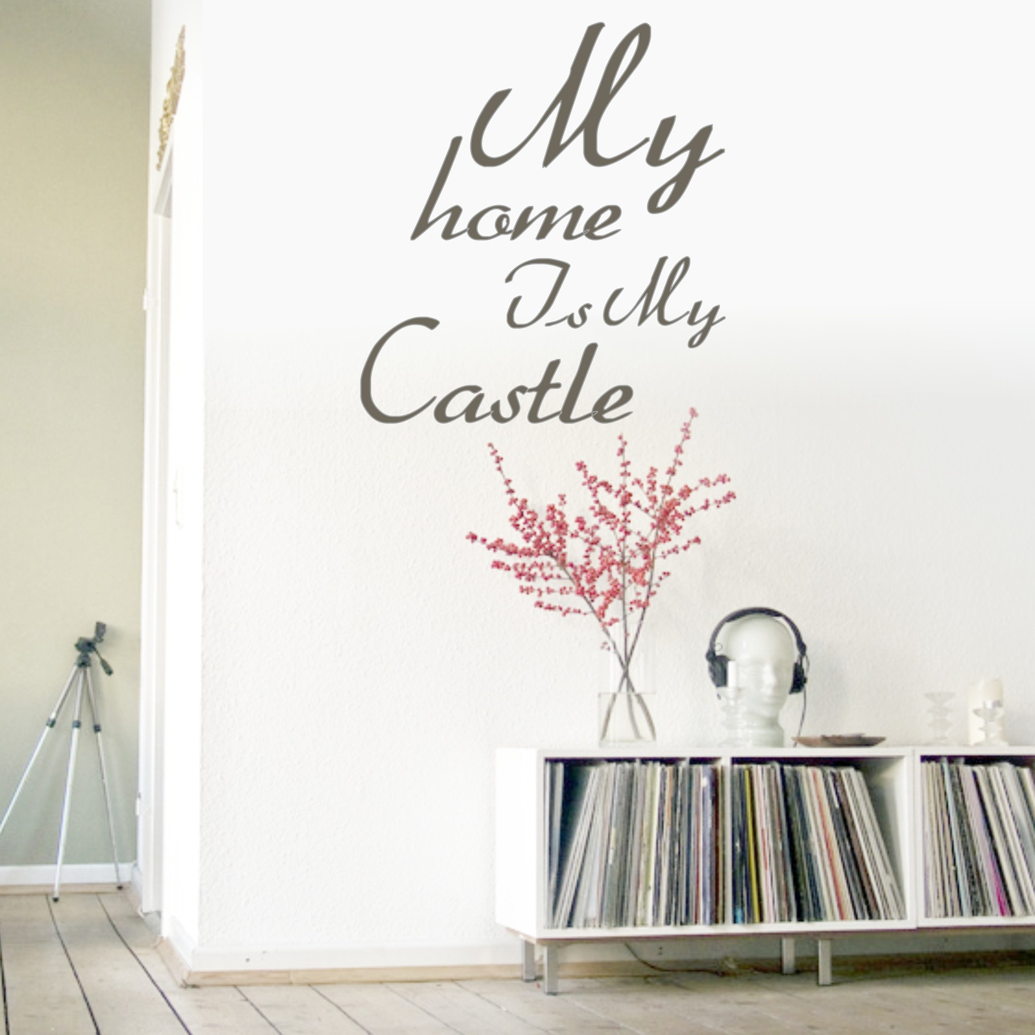 wandtattoo my home is my castle spr che zitate wandtattoos livingstyle wanddesign. Black Bedroom Furniture Sets. Home Design Ideas