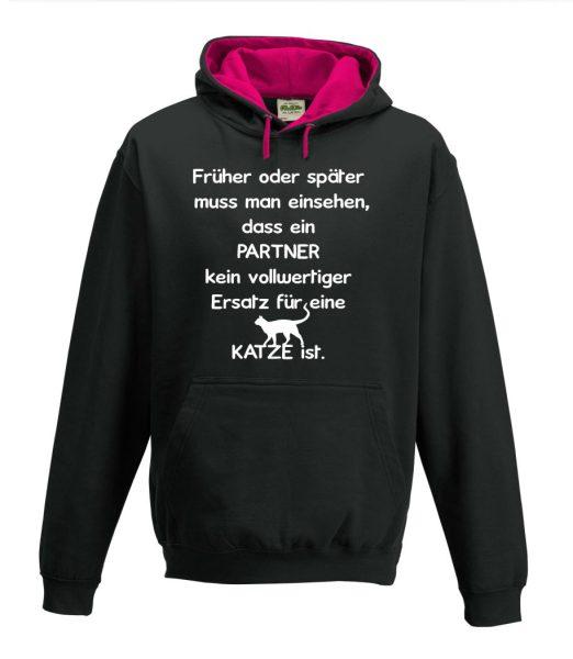 Kapuzenpullover Pullover Hoodie Ein Partner ist kein vollwertiger Ersatz für eine Katze
