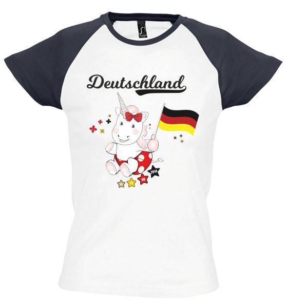 Damen T-Shirt WM 2018 Motiv 7 Einhorn Cutie
