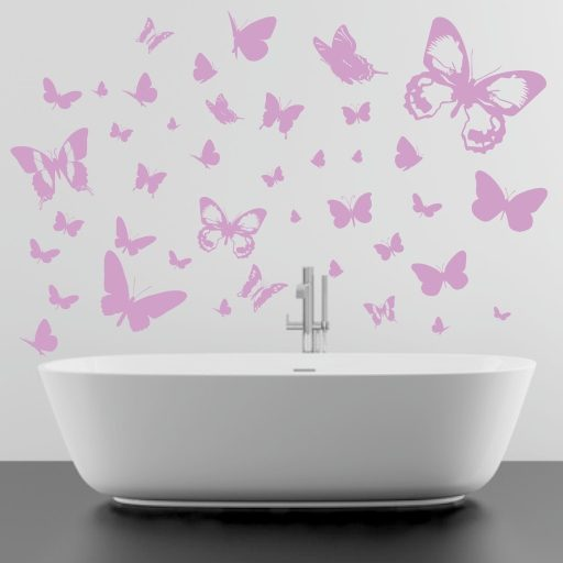 Wandtattoo 40 Schmetterlinge