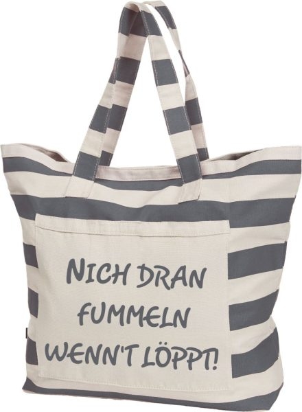 Streifen-Strandtasche Shopper maritim Nich fummeln