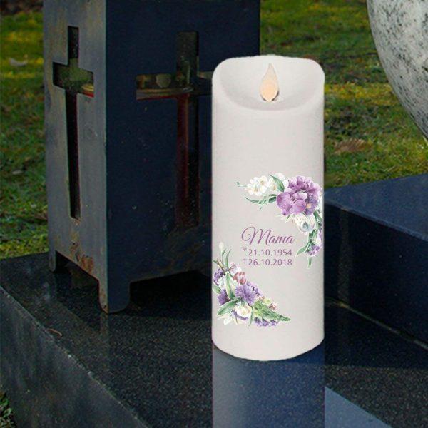 LED Kerze Twinkle Trauerkerze Orchidee