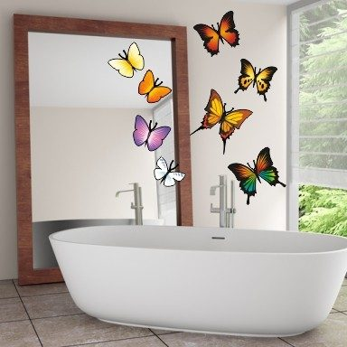 Wandtattoo 8 Schmetterlinge