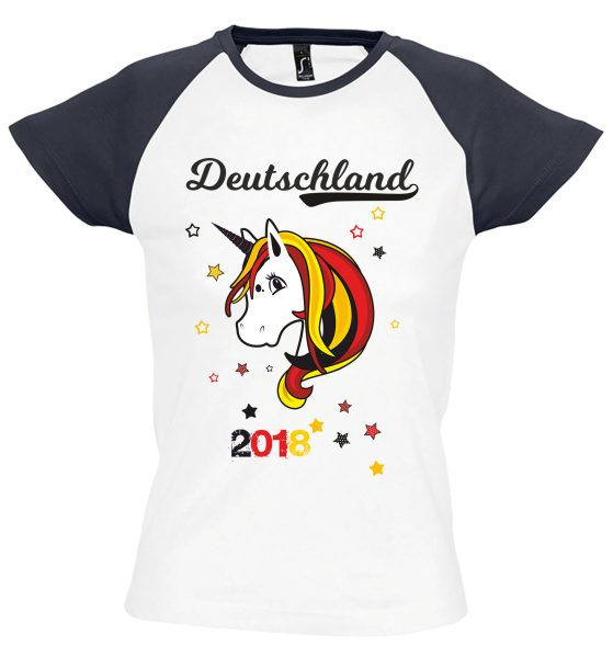 Damen T-Shirt WM 2018 Motiv 8 Einhorn Beauty
