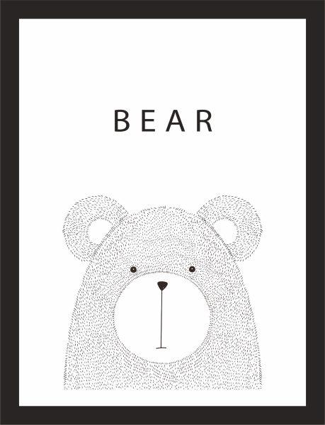 Kunstdruck Bär