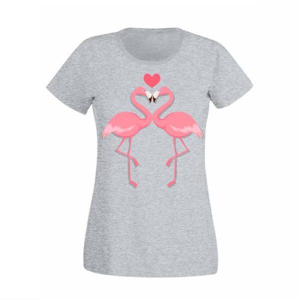 Damen T-Shirt Flamingo