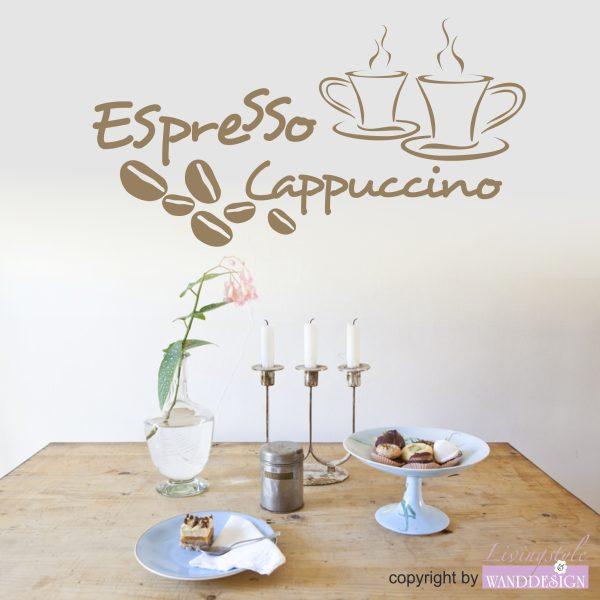 Wandtattoo Espresso & Cappuccino