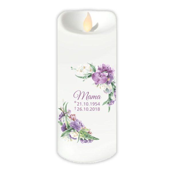 LED Kerzen Twinkle Trauerkerze Orchidee