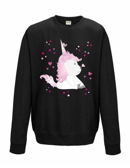 Sweatshirt Shirt Pullover Pulli Unisex Unicorn Einhorn mit Käfer Bug