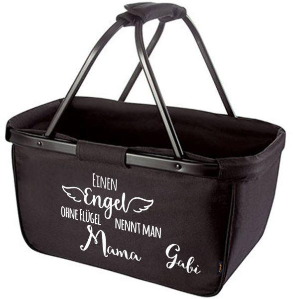 Einkaufskorb Korb Einen Engel ohne Flügel nennt man Mama