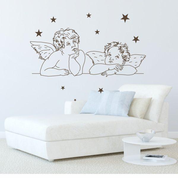Wandtattoo Engel mit Sternen