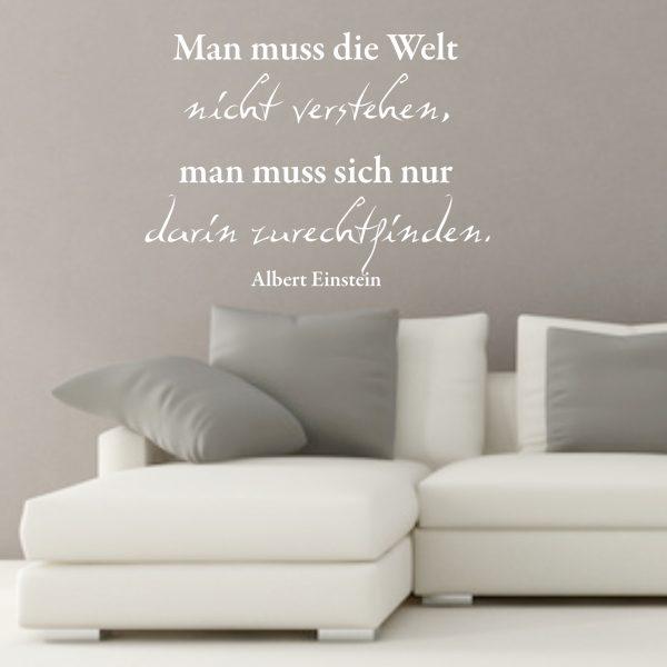 """Wandtattoo Spruch """"Man muss die Welt..."""""""
