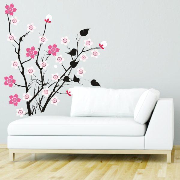 Wandtattoo Japanischer Blütenbaum