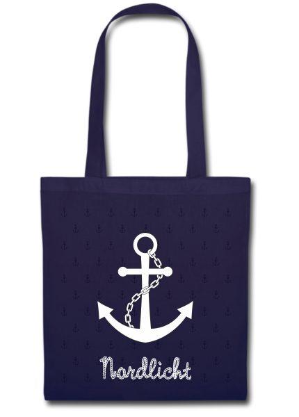 Stofftasche navy Anker