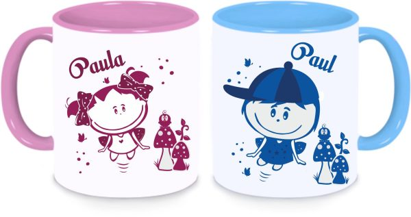Tassen Twinset in rosa und blau - Paul & Paula Sonnenschein