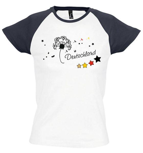 Damen T-Shirt Milky EM 2021 Motiv 9 Pusteblume