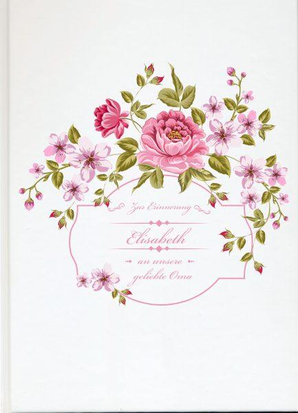 Fotoalbum Erinnerungsbuch Blumenkranz