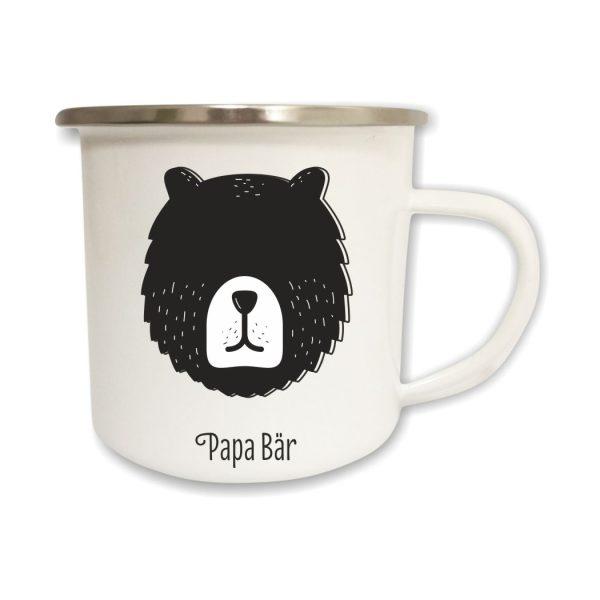 Emailletasse Papa Bär