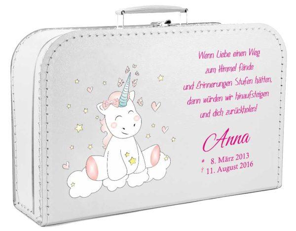 Koffer fürs Sternenkind mit Einhorn Cutie