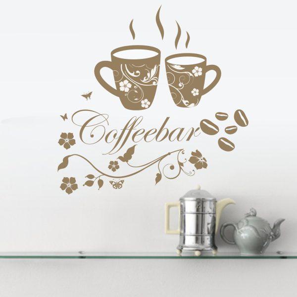 Wandtattoo Coffeebar