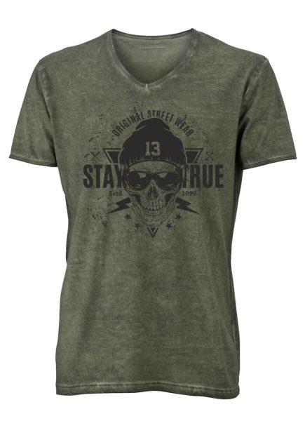 Herren Gipsy V-Neck T-Shirt Stay True