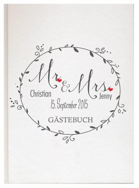 Personalisiertes Gästebuch für Ihre Hochzeit (Motiv 10)