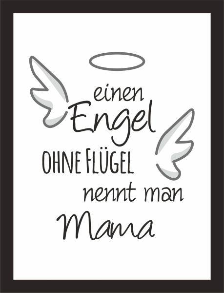 Kunstdruck Engel ohne Flügel