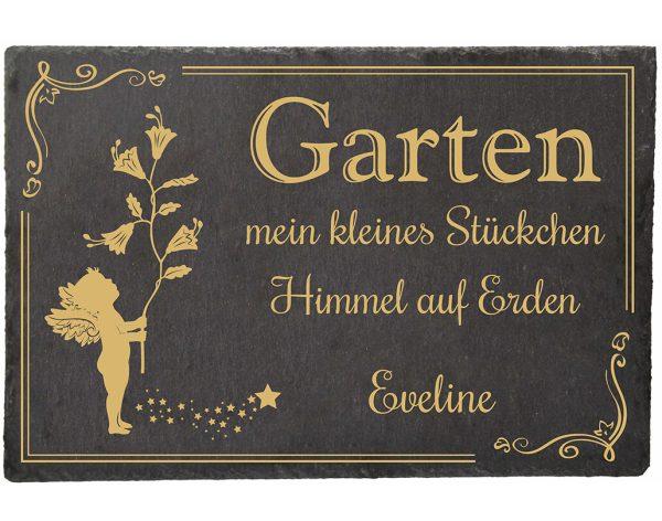 Schieferplatte für den Garten Himmel auf Erden