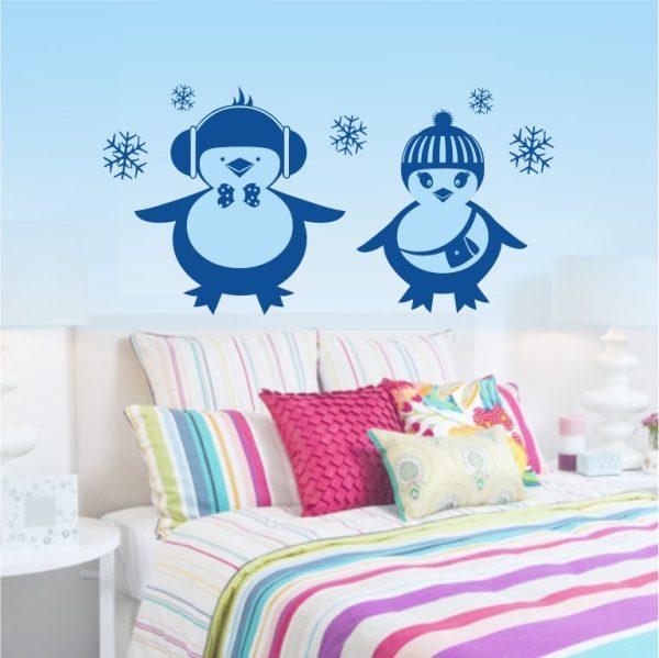 Wandtattoo Lustige Pinguine