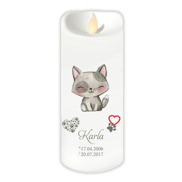 LED Kerze Twinkle für Tiere Katze sitzend