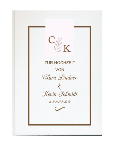 Personalisiertes Gästebuch für Ihre Hochzeit (Motiv 11)