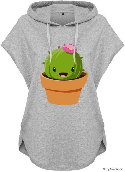 Kawaii Hoodie Kapuzenhoodie für Damen Kaktus Topf