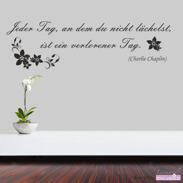 "Wandtattoo Zitat ""Charlie Chaplin"""