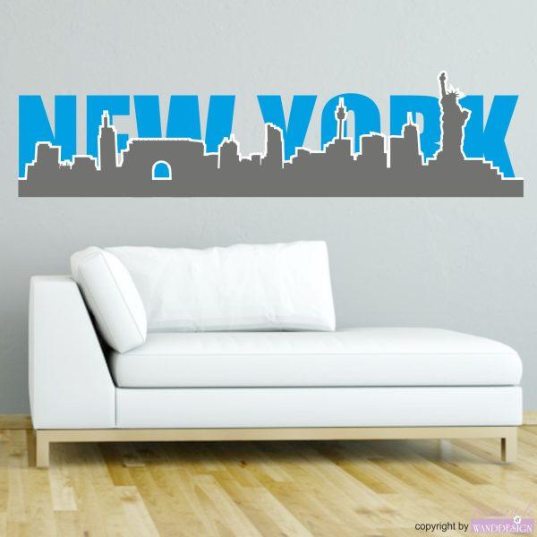 Wandtattoo New York Silhouette