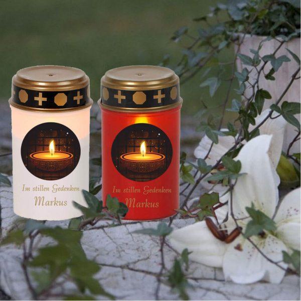 LED Grablicht Kerze Klein Kerze