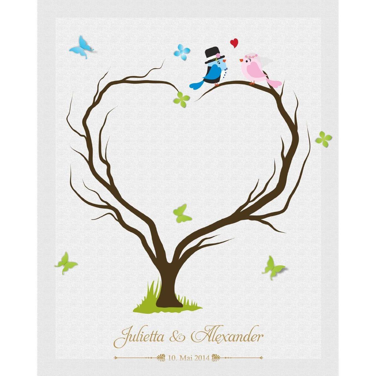 Außergewöhnlich Bild Fingerabdruck Ideen Von Hochzeitsleinwand Leinwand Fingerabdruckbaum Wedding Tree Gästebuch Herzbaum