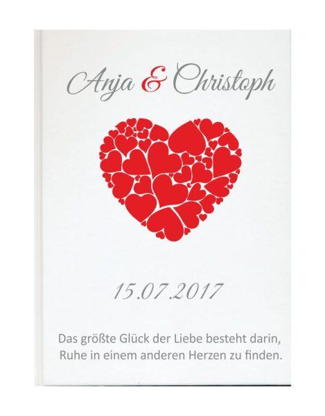 Personalisiertes Gästebuch für Ihre Hochzeit (Motiv 60)