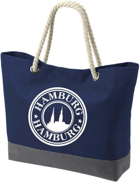 Shopper Bag Einkaufstasche Maritim Nautical Hamburg Stempel