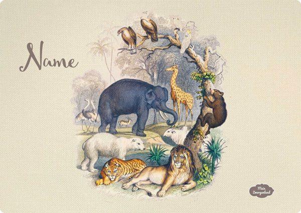 Personalisiertes Tischset Wildlife