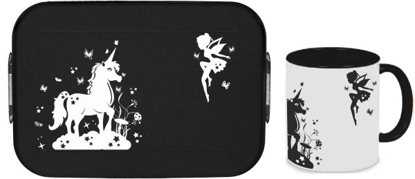Bento Brotdose Take A Break Large - Tasse - Sternenfee mit Einhorn