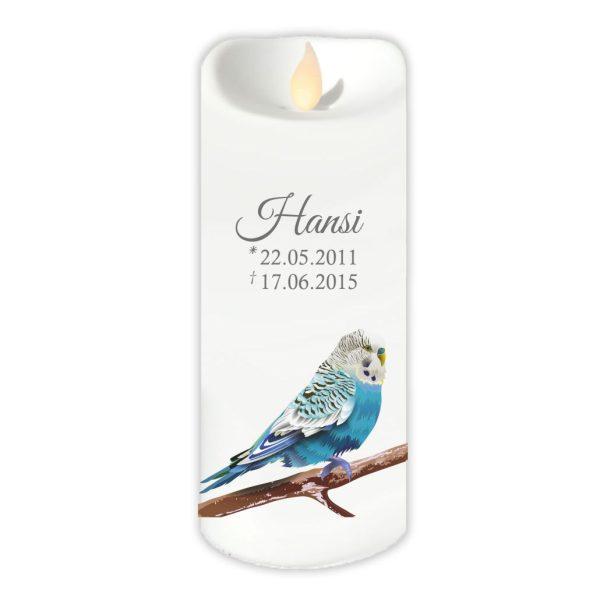 LED Kerze Twinkle für Tiere Blauer Vogel
