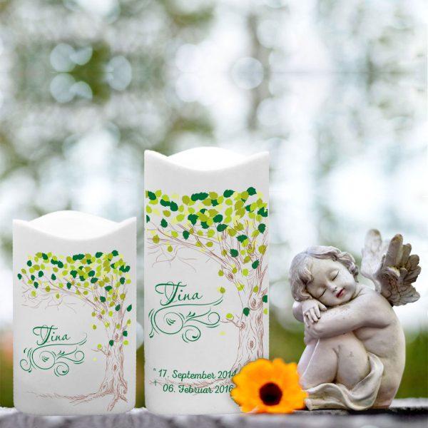 LED Kunststoff Kerze Weiß für Sternenkind Baum