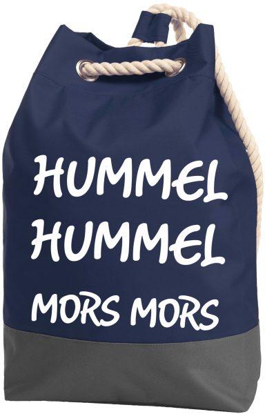 Rucksack Seesack Beutel mit Kordel Maritim Hummel Hummel Mors Mors