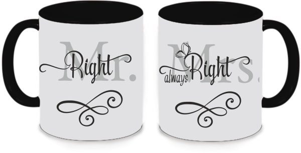 Tassen Twinset schwarz - Mr. & Mrs. Right