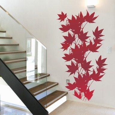 Wandtattoo Blätterwand